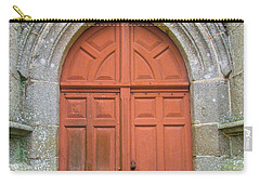 Red Church Door IIi Carry-all Pouch by Helen Northcott