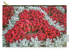 Carry-all Pouch featuring the photograph Red Coleus And Dusty Miller Plants by Sue Smith