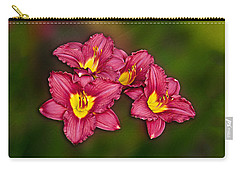 Carry-all Pouch featuring the photograph Red Columbine Hybrid by John Haldane