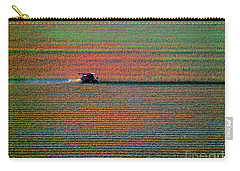 Red Combine Harvesting  Mchenry Aerial Carry-all Pouch