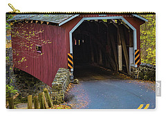 Red Covered Bridge In Lancaster County Park Carry-all Pouch