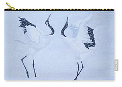 Red-crowned Crane Pair Carry-all Pouch