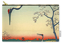 Red Crowned Cranes 1857 Carry-all Pouch by Padre Art