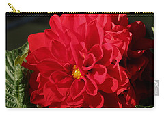 Carry-all Pouch featuring the photograph Red Dahlia Macro by Sheila Brown