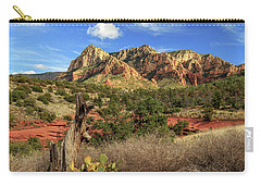 Red Dirt And Cactus In Sedona Carry-all Pouch by James Eddy