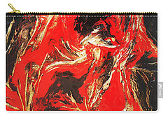 Red Distressed Carry-all Pouch