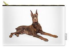 Red Doberman Pinscher Dog Lying Profile Carry-all Pouch