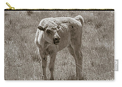 Carry-all Pouch featuring the photograph Red Dog Buffalo Calf by Rebecca Margraf