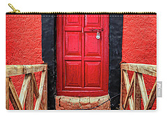 Carry-all Pouch featuring the photograph Red Door At A Monastery by Alexey Stiop