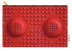 Red Dots Industrial Portrait Carry-all Pouch by Tony Grider