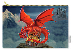 Red Dragon Guardian Of The Treasure Chest Carry-all Pouch by Glenn Holbrook
