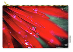 Red Droplets Carry-all Pouch by Yumi Johnson