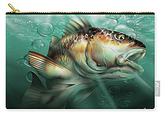 Red Drum Carry-all Pouch by William Love
