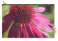 Carry-all Pouch featuring the photograph Red Echinacea by Anna Louise