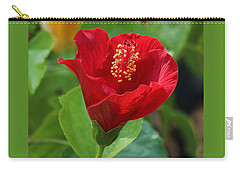 Carry-all Pouch featuring the photograph Red Elegance by Sheila Brown