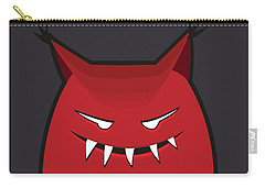 Red Evil Monster With Pointy Ears Carry-all Pouch
