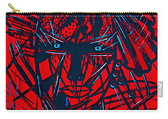 Carry-all Pouch featuring the painting Red Exotica by Natalie Holland