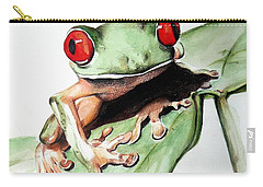 Red Eyes Carry-all Pouch by Ilaria Andreucci