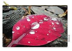 Red Fall Leaf Carry-all Pouch