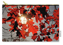 Red Fall Leaves Carry-all Pouch
