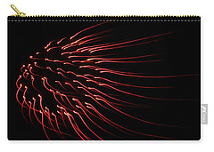 Carry-all Pouch featuring the photograph Red Firework  by Chris Berry
