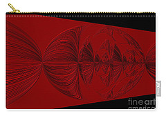Red And Black Design Carry-all Pouch by Oksana Semenchenko