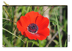 Red Anemone Coronaria 4 Carry-all Pouch