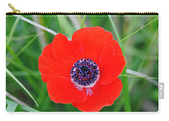 Red Anemone Coronaria 3 Carry-all Pouch