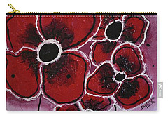 Red Flowers Abstract Art Carry-all Pouch