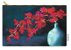 Red Flowers Carry-all Pouch by Frances Marino