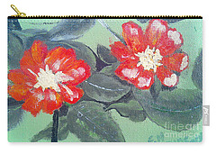 Red Flowers Carry-all Pouch by Francine Heykoop
