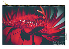 Carry-all Pouch featuring the photograph Red Flowers Parametric by Sharon Mau