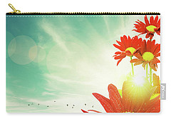Carry-all Pouch featuring the photograph Red Flowers Spring by Carlos Caetano