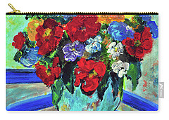 Red Flowers You Brought Carry-all Pouch