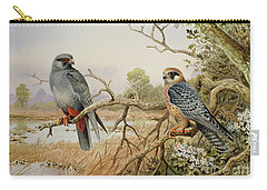 Red-footed Falcons Carry-all Pouch by Carl Donner