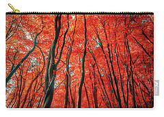 Red Forest Of Sunlight Carry-all Pouch