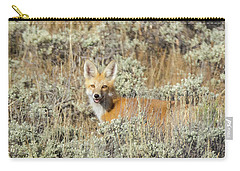Red Fox In Sage Brush Carry-all Pouch