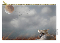 Red Fox In The Moonlight Carry-all Pouch