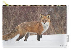 Red Fox On Alert Carry-all Pouch