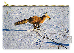 Red Fox On The Run Carry-all Pouch