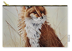Red Fox Waiting On Breakfast Carry-all Pouch by Jimmy Smith