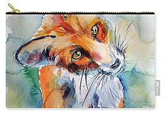 Red Fox Watching Carry-all Pouch