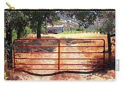 Red Gate Carry-all Pouch by Timothy Bulone
