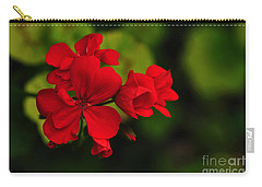 Red Geranium Carry-all Pouch by Kaye Menner