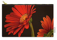 Carry-all Pouch featuring the photograph Red Gerbera Daisy 1 by Richard Rizzo