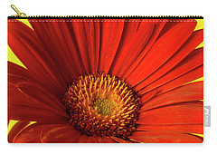 Carry-all Pouch featuring the photograph Red Gerbera Daisy 2 by Richard Rizzo