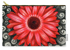 Red Gerbera Daisy Drawing Carry-all Pouch
