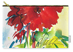 Gerberas Red, White, And Blue Carry-all Pouch