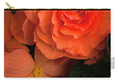 Red Giant Begonia Ruffle Form Carry-all Pouch
