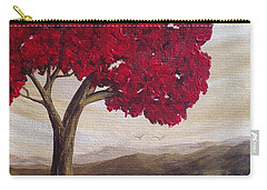 Red Glory Carry-all Pouch by T Fry-Green